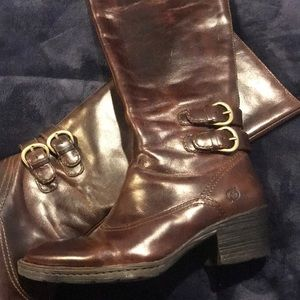 Born brown leather boots